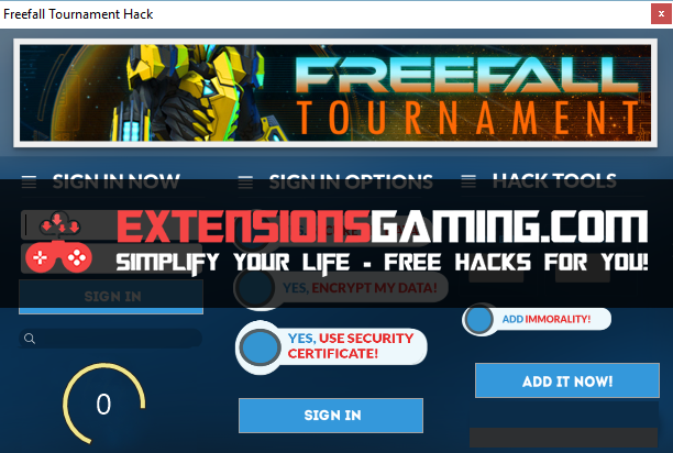 Freefall Tournament Hacks